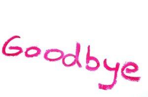 goodbyeの文字