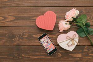スマホとバレンタインチョコ