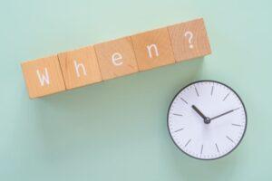 英単語whenと時計