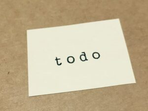 「to do」と書かれた封筒